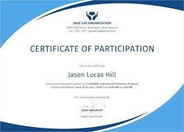 Certificate Of Participation Templates Conference Participation Certificate Template Sundaydriver Co