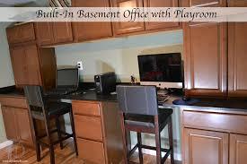 Basement Renovation: Built-In Office Area