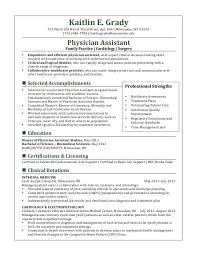 Resume Physician Cv Sample
