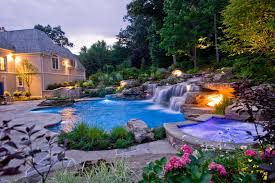 pool waterfall lighting. Regular Lighting Designed To Be Used Indoors Is, Unsurprisingly, Unsafe Use In Areas That Are Prone Damp Or Wet. This Includes Garden Sheds, Outdoor Pool Waterfall N