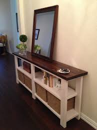 entryway table with drawers. rustic chic console table entryway tables storage and movie wood with cherry finish sideboard drawers \u0026 o