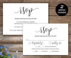 Response Cards For Weddings Rsvp Printable Card Wedding Rsvp Cards Wedding Response Etsy