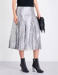 maje jaly sequinned midi skirt silver womens skirts officially authorized big on maje dress maje white mesh dress whole dealer