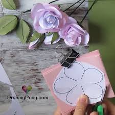 Rose Flower With Paper Easy Tutorial To Make A Paper Rose Free Template