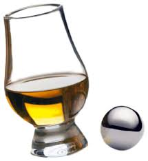 glencairn whiskey glass and stainless steel chilling ball set 2 piece set contemporary liquor glasses by home wet bar