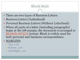 Letters With Letterhead Business Letters Business Technology I Ppt Download