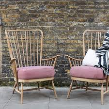 needle haystack furniture. Ercol Armchairs In Front Of Brick Wall Needle Haystack Furniture