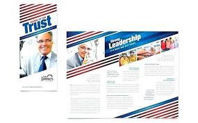 Election Flyer Template Free Campaign Brochure Political Jourjour Co
