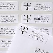 Monogram Return Address Labels Name Monogram Personalized Address Labels