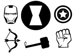 Avenger Icons Silhouette Freezer Paper Heat