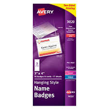 How To Print Avery Name Badges