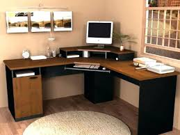 post small home office desk. home office corner computer desk felix in beech post small s