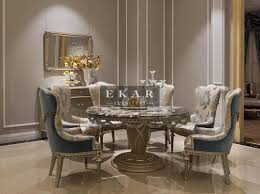 ekar furniture round marble table dining table luxury furniture china modern luxury furniture ekar