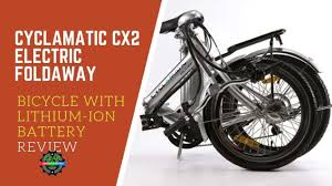 Cyclamatic Bike Lights Cyclamatic Cx2 Electric Foldaway Bicycle With Lithium Ion