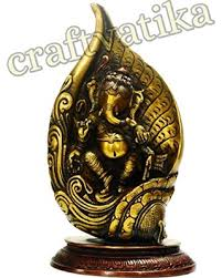 Small Picture Spring Savings on Brass Ganesha Ganesh Statue Sitting in Conch