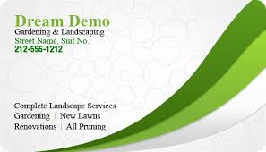Gardening Business Cards Templates Sample Landscaping Business Cards
