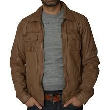 jp mens camel leather jacket