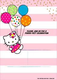 Printable Hello Kitty Invitations A Super Sweet Hello Kitty