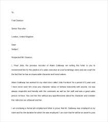 character reference samples 5 samples of character reference letter template character reference