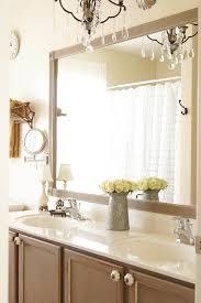 diy bathroom mirror frame. DIY Bathroom Mirror Frame Update Diy