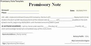 Promissory Note Template Pdf Promissory Note Template Letter Format