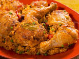 baked arroz con pollo