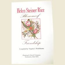 blossoms of friendship by helen steiner rice hc like new fay wray antiques ruby lane