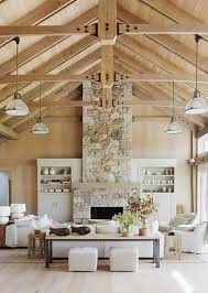 chic wooden beams and wood covered ceiling is a gorgeous rustic feature that adds coziness