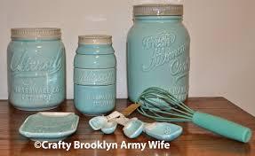 Blue Kitchen Decor Accessories Mason Jar Kitchen Decor Set Miserv