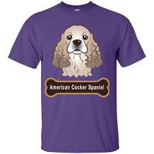 American Cocker Spaniel Dog Bone Nameplate Youth Custom Ultra Cotton Tee