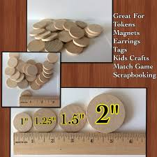 100 various wooden round circles wood disc wood coins unfinished circles