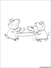 Small Picture Peppas Pig kitchen coloring page Coloring pages