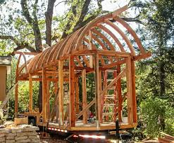 Small Picture Curved Roof Tiny House Under Construction Incredible Carpentry