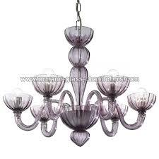 redentore 6 lights murano chandelier amethyst color