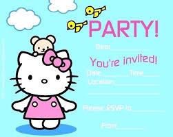 Kitty Party Invitation Cards Maker Free Printable Hello Kitty