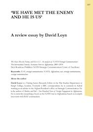 david loyn review essay we have met the enemy and he is us   publication file 656 14 kb