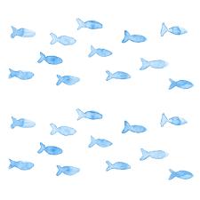 魚の群れsui Sai水彩画イラストフリー素材集