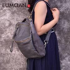 <b>EUMOAN</b> Brand <b>original</b> genuine <b>leather</b> backpack female travel ...