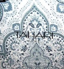 tahari home king comforter set new paisley soft blue gray white duvet shams bedding decorations in spanish speaking countries