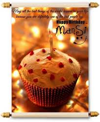 Lolprint Happy Birthday Mansi Scroll Greeting Card Price In India