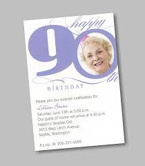 90th Birthday Party Invitations Happy Holidays