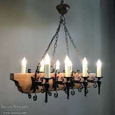 rustic antique wood and wrought iron chandelier harper pendant