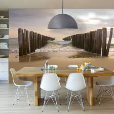 Seascape Accent Walls In Dining Room