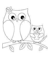 Owls Coloring Picture Cute Owl Coloring Pages Printable