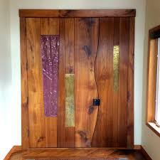colored glass door inlay