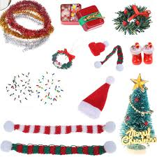 Candy Christmas Lights Us 1 06 31 Off Christmas Lights Gift Box Model With Candy Boots Tree Wreath Pine Drop Santa Claus Hat Decor Dollhouse Miniature Accessories On