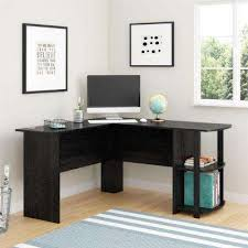 office desk for home. corner desk with 2shelves in black ebony ash office for home e