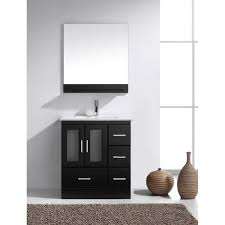 Bathroom Single Vanity Virtu Usa Zola 30 In Single Basin Vanity In Espresso With Ceramic
