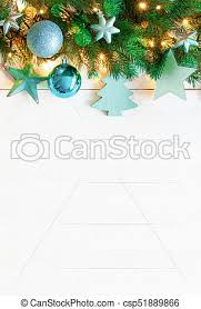 Turquoise Vertical Christmas Banner Copy Space Wooden Background