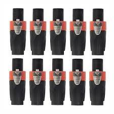 10pcs neutrik 3 pole female male cannon xlr connector plug for microphone with 3 poles